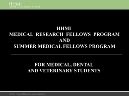 2015 HHMI Medical Fellows Presentation
