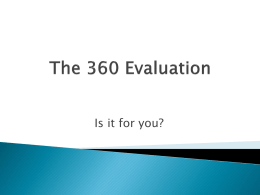 The 360 Evaluation
