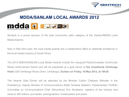 mdda/sanlam local awards 2012