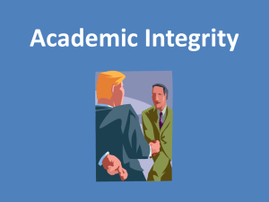 Academic Integrity and Appropriate College Behaviors