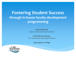 Fostering Student Success through in
