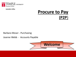 Procure to Pay - Temple University