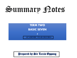 summary notes basic 6 (term 2)