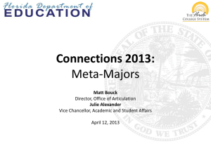 Meta Majors Workshop - Florida Department of Education