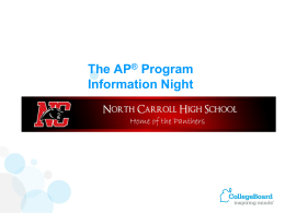 Why Take AP Exams? - Carroll County Public Schools