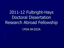 FHDDRA Fellowship ppt - The University of Arizona Graduate College
