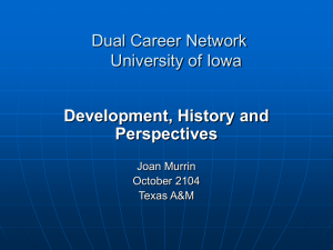 Dual Career Network University of Iowa Iowa City, IA