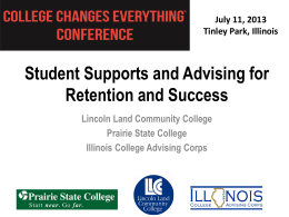 Student Support Advising - College Changes Everything