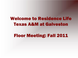 HERE - Texas A&M University at Galveston