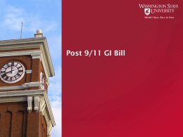 G.I. Bill Presentation PowerPoint