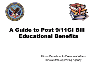 A Guide to Post 9/11 GI Bill Educational Benefits