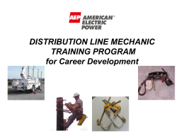LINE / SERVICE MECHANIC TRAINING PROGRAM TRAINING PLAN