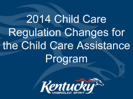 KDPH COOP Tabletop Exercise - The Child Care Council of Kentucky