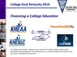 College Goal Kentucky Presentation