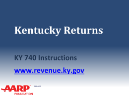 KY Returns for 2014 - Aarp-tax-aide