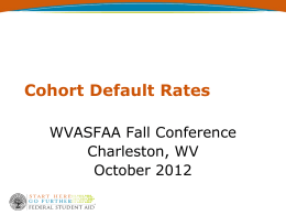 Cohort Default Rates