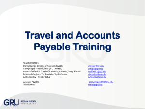Accounts Payable Business Processes & Disbursements and Travel
