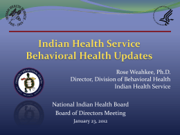 4. NIHB_BH_Updates - National Indian Health Board