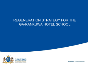 regeneration strategy for the ga-rankuwa hotel school