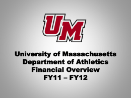 University of Massachusetts Football Transition Plan Financial