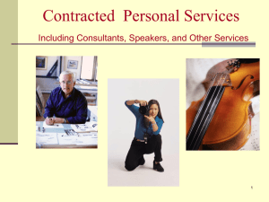 Contracted Services - Texas State University