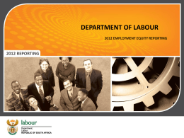 ee online reporting - Employment Equity Online Reporting
