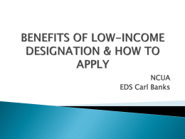 Low Income Designation Presentation