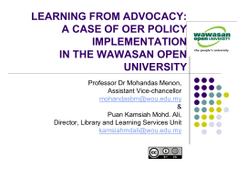 a case of oer policy implementation in the wawasan