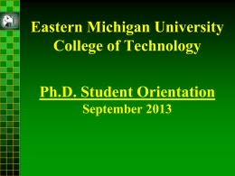 Ph.D. in Technology Orientation