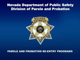 Parole and Probation-Parole and Probation Re