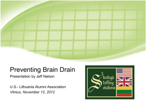 Jeff Nelson`s Presentation on Brain Drain Prevention - US