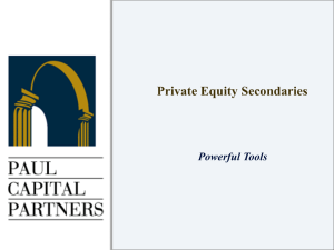 Primary Private Equity Funds