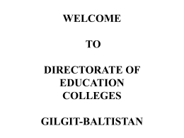 Presentation on GB Colleges
