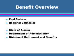 Benefit Overview