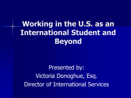 Working in the US as an International Student and Beyond