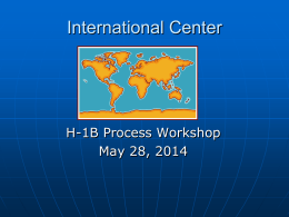 H-1B Training Presentation
