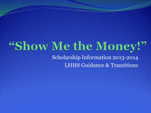 """Show Me the Money!"" - Leo Hayes High School"