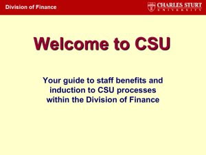 Finance Induction