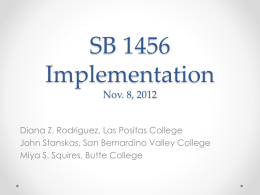 SB 1456 Implementation