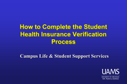 Student Health Insurance Verification Process