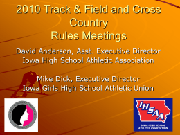 Track and Field/Cross Country - Iowa High School Athletic Association