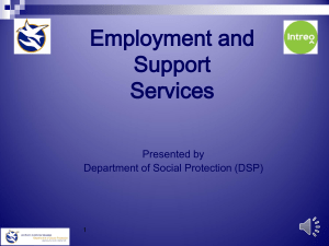DSP Employer Presentation - David O`Donnell