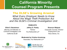 Best Practice - California Minority Counsel Program