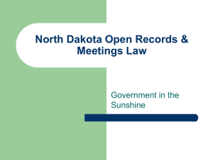 North Dakota Open Records & Meetings Law