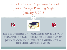 2015 Junior College Planning Night Powerpoint