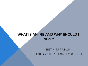 What is an IRB and Why Should I Care?