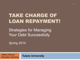 Take Charge of Loan Repayment