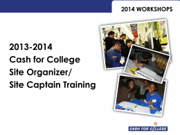 2014 workshops - la cash for college