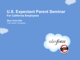 Expectant Parent Seminar for CA Employees