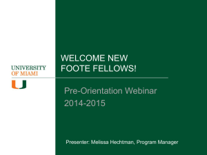 Foote Fellows Meet Your Mentors!